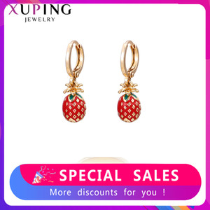 Xuping Jewelry Gold-color Plated Eardrops Earrings Temperament Style Cute Fruit Shape Gifts for Exquisite Women 80453 200924