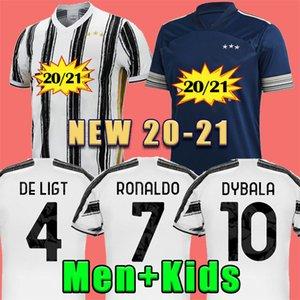 20 21 RONALDO JUVENTUS Soccer Jersey 2020 JUVE 2021 maison loin quatrième de Ligt Dybala HIGUAIN 4 PALACE football Chemises hommes uniformes kit enfants