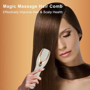 Cheveux démêlant peigne électrique LED Photon Luminothérapie coiffure Brosses Peignes massage femmes peigne Vibration Massager Scalp