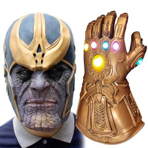 Avengers Thanos Infinity War masque Matière Latex émulsion accessoires Halloween cosplay soutiens Prom Thanos Infinite Gants