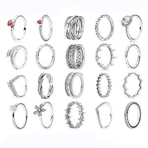 Fit Pandora браслет шарма кольцо Daisy Love Heart Rose стерлингового серебра 925 Аутентичные Подвеска DIY Стиль ювелирных изделий обручальные кольца европейских
