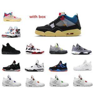 2020 4s x Union 4 Basketball-Schuh-11 11s 25. Jahrestag Concord Bred 45 mit dem Kasten 4s White Cement Sneaker Trainer
