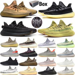 Lundmark Reflective brilhar nuvem branca Running Shoes com caixa de Kanye West sapatos de grife Homens Mulheres Preto estática Antlia Synth Esporte Sneaker