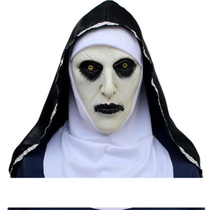 The Nun Valak Mask Deluxe Latex Scary Full Head Halloween Cosplay Costume Accessory Halloween Party Masks A05