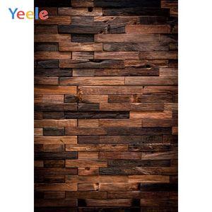 Yeele Brown Hardwood Plank Board Texture Vinyl Wood Baby Newborn Photo Backdrops Photographic Backgrounds Photocall Photo Studio