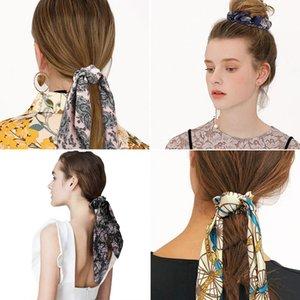 Fasce per Capelli del nastro anello floreale fai da te in Streamers Hair Fashion Scrunchies Equiseto Tie Dot Headwear Accessori per capelli per la ragazza le donne
