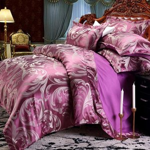 42 Dropshipping Wedding Luxury Bedding Sets Jacquard Queen King Size Duvet Cover Set wedding Bedclothes Bed Linen bed sheet DOP