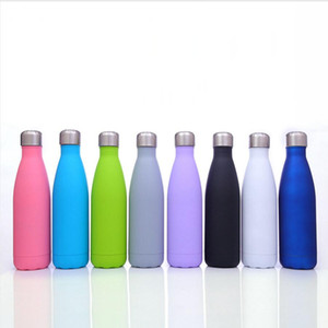 17oz Cola Shape Mugs Stainless Steel Double Wall Water Bottle Vacuum Insulated Outdoor Portable Sports Kettle Sea Shipping DDA369