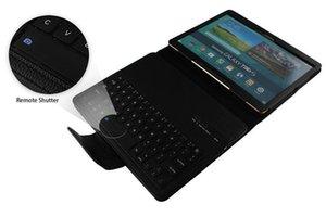 Frete grátis removível sem fio Bluetooth Keyboard Pu couro suporte tampa do caso para Samsung Galaxy Tab S 10 .5 T800 T805