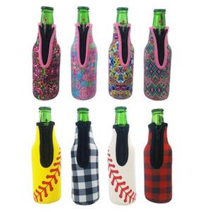 Titolare Sanitizer neoprene Hand Sanitizer Bottle Holder Camouflags Girasole Stampa Bottiglia Birra copertina Borse Frigo Drink Fits Supplies DHD1146
