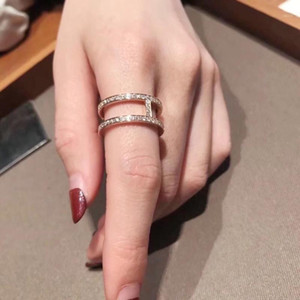 Ring Two In One Ring Jewelry 925 Sterling Silver for Women High Jewelry Wedding Ring size:6781
