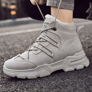Boots Women Winter Boots Fashion Womne Shoes British Style Ankle Female Comfortable Warm Platform Lady Cotton Shoes