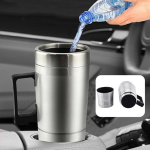 12 24V Stainless Steel Travel Car Heating Cup Hot Water Coffee Thermal Mug 2020