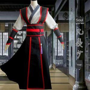Mo Dao zu cosplay terno antigo traje Wei Wuxian jovem Yiling velho ancestral mestre mesmo estilo Jiang Cheng azul esquecer máquina Jiang Gu Li um