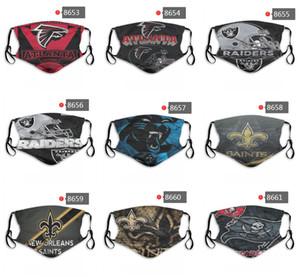 2020 Nouveau 5 couche de protection Masque Personnalité Pure Cotton Luxury Designer Masque équipe de base-ball de football Réutilisable Masques Visage Anti-poussière PM2,5