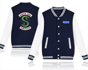 Riverdale Hot Jackets Harajuku Sweatshirt Women Men Hip Hop Streetwear SOUTH SIDE SERPENTS PRINTED snake Coats Jackets