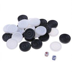 32pcs 22 millimetri doppio Terra Chess Set Backgammon Viaggi Bambini Board Game per adulti durevole