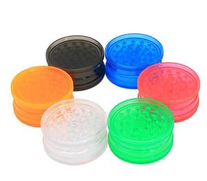 Ronde Grinders Grinders Shaped de fumée en plastique 3 couches en plastique transparent fumeurs Grinder Mills Fit dents Mills colorés Accessoires LSK679