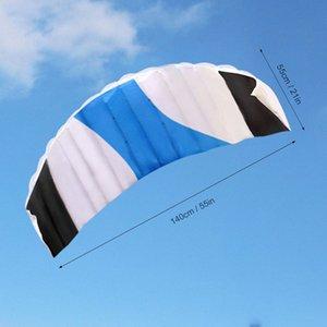 Suministros caliente nuevo fitness equipos de la aptitud 140x55cm alta calidad enorme paracaídas Parafoil Kite Kite Beach Deportes fácil de volar sin marco ocZe #