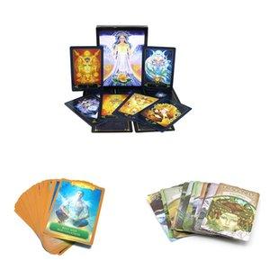 Tablero de energía Tarjeta de Gaia Inglés Orientación Tierra misterioso juego de adivinación Tarot Destino Leer Sueño tarjetas de juego de Oracle LvdfA mycutebaby007