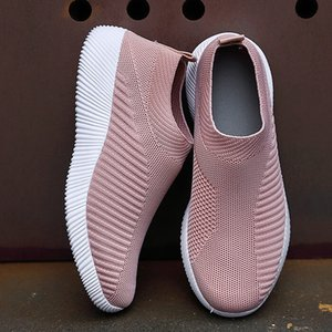 Soft Women Vulcanized Shoes High Quality Women Sneakers Slip On Flats Shoes Women Loafers Plus Size 42 Walking Flat