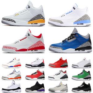 air jordan retro 3 aj jordans 3s mens scarpe da basket 2020 nuovo arrivo UNC animale da soma laser grigio Knicks arancio formatori uomini sport sneakers ci taglia 13 delle donne