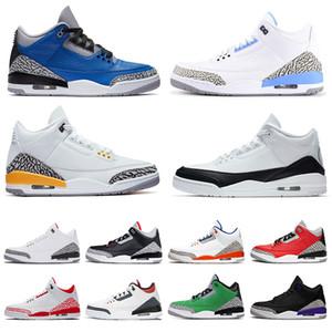 nike air jordon 3 retro jordans 3s jumpman mujeres de los hombres unc zapatillas de baloncesto zapatillas de deporte fragmento de mezclilla knicks rivales hombres