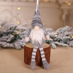 Drop Gifts Decorations Holiday Cute Hanging Christmas Ornament Knitted Wall Pendant Mini Party DIY Long Leg Doll Tree Drop