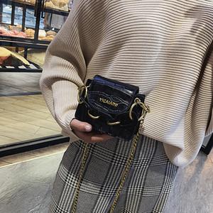 حقيقية البسيطة حقيبة إمرأة حقيبة جديد 2019 أزياء سلسلة حقيبة كتف كل مباراة بنات ستون نمط ساحة الرافعة ذات جودة عالية
