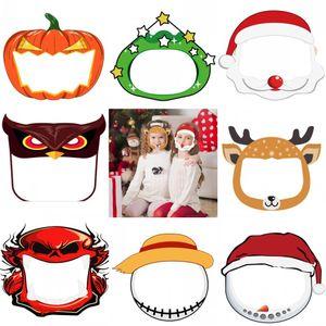 Viso Natale dei bambini scudo anti-fog Isolamento Maschera di protezione completa maschera trasparente in PET Protezione Splash Head Cover goccioline