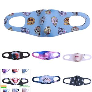Маски 4Tkna XZ Face Fashion Christmas Xmas Маска Dust Снежинка Рождество Mouth крышка WashableMasks Доставка