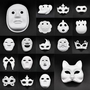 DIY Paper Masks Masquerade Halloween Masks Party Cosplay Cartoon Maske Carnival Ball Face Women Carnaval Masque Prop DHF654