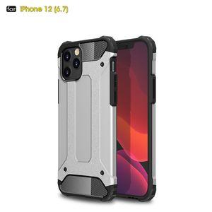 Hybrid-Telefon-Kasten für iPhone 12 11 Pro Max XS XR 8 7 SE Aluminiumkasten-Abdeckung für Samsung