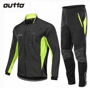 Winter Warm Fleece Riding Jacket And Pant Windproof Thermal Outdoor Sportswear Waterproof Man Racing Bicycle Cycling Sets V0qI#
