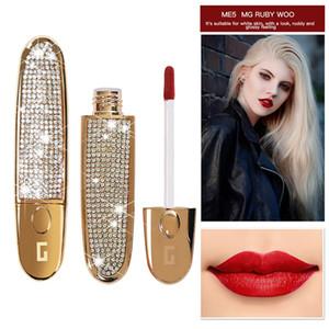Dudak Ton Mat Lipgloss Tüpü Kalıcı Yeni MYG Mat Likit Ruj Su geçirmez Kırmızı Kadife Dudak Makyajı Dövme Uzun
