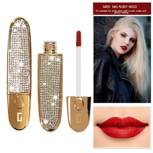 New MYG Matte Lipstick Líquido Waterproof Maquiagem Red Velvet Lip Tattoo Longa Duração Lip Gloss Tint Matte Lipgloss Tubo