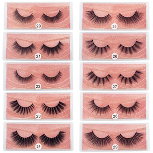 Wholesale 10styles 3D Mink Eyelashes Natural False Eyelashes Soft Make Up Lashes Extension Makeup Fake Eye Lashes 3D Series