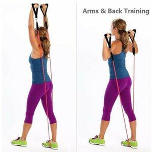 quality11PCS Resistance Band Set Carry bis zu 100 Pfund Krafttraining Yoga-Übung Fitness Gummischläuche Band Stretch Trainings
