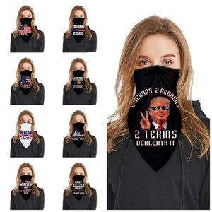 горячая Trump маска для лица 3D печать США Магия шарфы Многофункциональный Магия банданы Тюрбан верхом маски Дизайнер Маски T2I51363