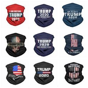 Maskeler 2020 Trump Üçgen Magic Eşarp ABD Başkanı Trump Seçim Bandana Turban Çok Fonksiyonel Spor Bisiklet Borulu Şapkalar LSK915