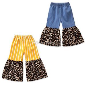 Kids Leopard stripe pants 2019 Spring Autumn Fashion children Flare pants baby girls Trousers 2 colors C6445