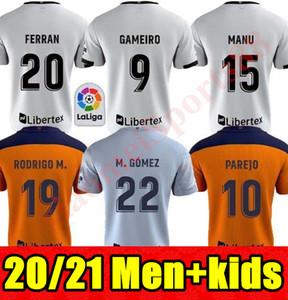 20 21 فالنسيا لكرة القدم جيرسي 2020 2021 جيديس غاميرو camisetas دي فوتبول رودريغو M. Florenzi M.Gomez الرجال عدة الاطفال قمصان كرة القدم