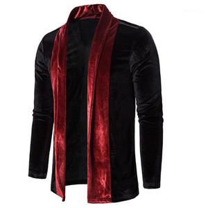 Mantel Herbst LuxuxMens Solid Color Oberbekleidung Mens Deisgner Jacke Mode schlankes Cardigan