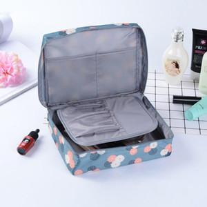 100% polyester Cosmétique Sac étanche Marque Organisateur Voyage Emballage Cubes Esthéticienne Sacs Obèses Maquillage Sacs Pochette