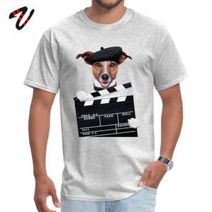 T-shirt For Men 100% Algodão Camisetas Scottish Dog Dachshund Estilo Inglaterra Imprimir Roupa artista Pet Tops Summer manga curta Tee