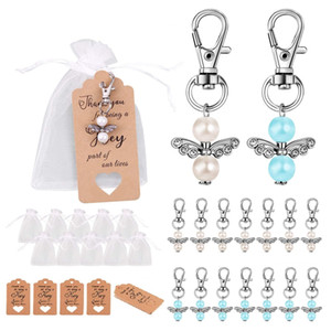 HOT SALE 40 Pieces Guardian Angel Party Favors Baptism Wedding with Organza Pouches Gift Tags for Baptism Wedding Birthday