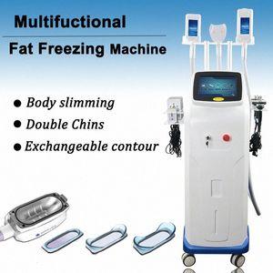 El más reciente de grasa de congelación de la máquina Cavitación Radio Frecuencia pérdida de peso que adelgaza la máquina MINI Cryo Papada Cryolipolysis Máquina Cavita Rc63 #