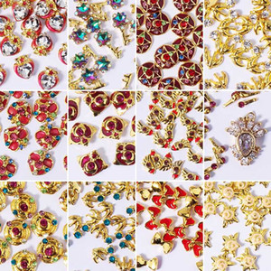 100 pcs / pack 3D Sailor Moon Glitter Design Pregue Padrão Art Stickers Decalques Pedrinhas Star Gold Manicure DIY Decoração Ferramentas