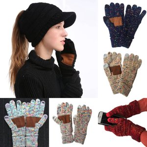 2020 Winter Knitted Gloves 15 Colors Woolen Stretch Warm Touch Screen Glove Outdoor Riding Mittens Gloves DDA591