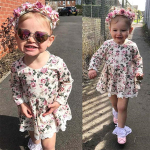 Multicolor Fashion Toddler Kids Baby Girl Floral Lace Dress Pageant Princess Dresses Clothes Hot drop shipped ST07